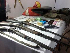 Desi guns and revolver reportedly seized from 'Maoist camp'