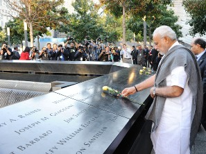 PM Narendra Modi at 9/11 Memorial (PIB)
