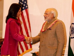 PM Modi meets with Tulsi Gabbard