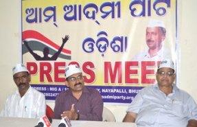 AAP Press Meet ( Pic-Biswaranjan Mishra)