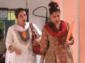 Preeti Bhatia (Right) at the CBI office