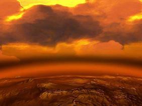 Venus' atmosphere (Source-dailygalaxy.com)