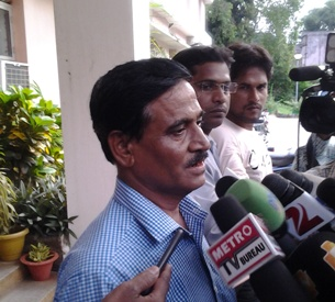 OCA accountant MA Ahad at the CBI office in Bhubaneswar on Saturday (Pix: Santosh Jagdev)