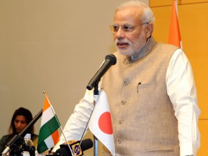 Modi addressing students at Sacred Heart university