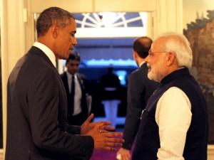 Modi with Barack Obams in US