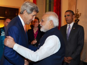 PM Modi with John Kerry at the dinner ( all pics -PIB)