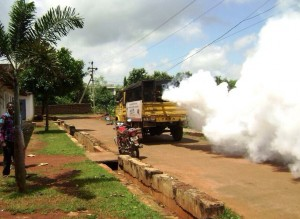 Fogging operation at dengue-hit Kalinganagar ( pic- Tata Steel)