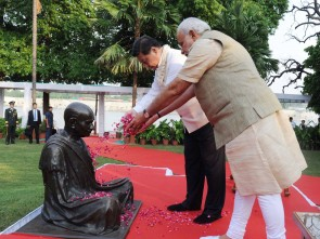 Two leaders at Mahatma Gandhi's Sabarmati Ashram