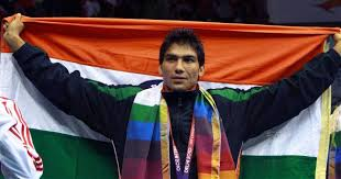 indian boxer in tricolour