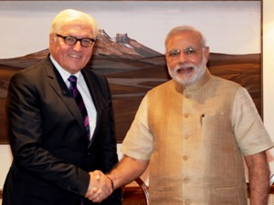 German Foreign Minister Frank-Walter Steinmeier meeting PM Modi (PIB)