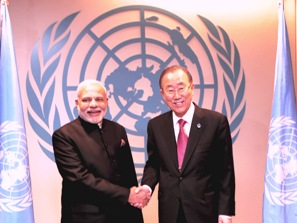 PM Modi with UN Secretary-General, Ban Ki-moon (PIB)