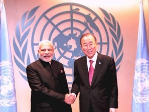 PM Modi with UN Secretary-General, Ban Ki-moon (PIB)