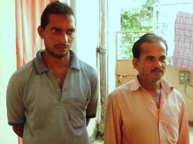 Amar and Hemant Sahu after their 'rescue'