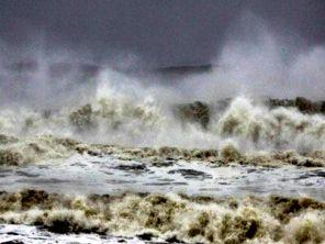 Violent sea at Gopalpur on Saturday