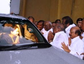 Jailed Jayalalitha returns toi Chennai