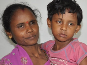 Payal with mother after her rescue ( pic- Biswaranjan Mishra)