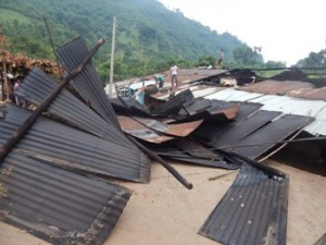 Damaged houses in Rayagada district (Photo: Ranjan Rath)