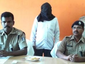 Hadibandhu Kadraka ( masked) accused of being a Maoist