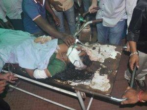 Injured Runu Behera at Capital Hospital ( pic-Biswarajan Mishra)