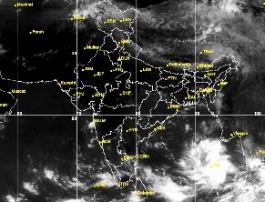 Satellite image Hudhud