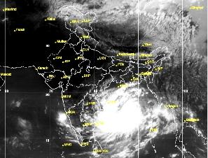 Hudhud: Satellite pic Oct 10
