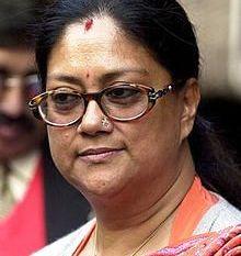 Vasundhara Raje, CM, Rajasthan