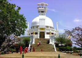 The Peace Pagoda at Dhauli (Photo Courtesy: odishatourism.gov.in)