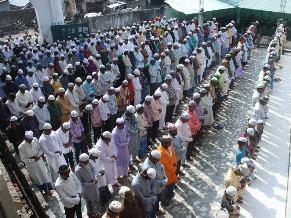 Prayers at Masjid in Unit-3 in Bhubaneswar ( pic- Biswaranjan Mishra)