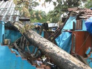 Hudhud destruction in Malkangiri town ( pic-Ranjan Rath)