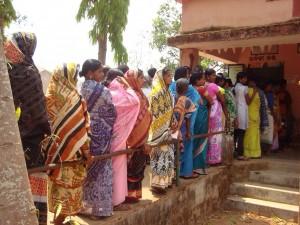 Kandhamal polling voting booth