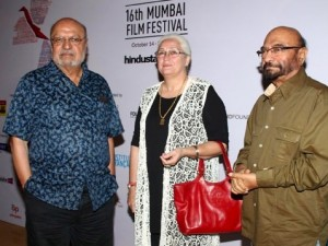 Shyam Benegal, Nafisa Ali & Govind Nihalani at the festival