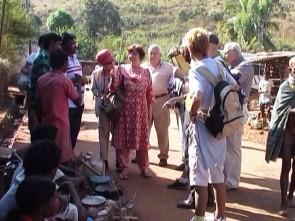 Tourists at Chatikona tribal market