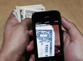 App to help blind 'see money'