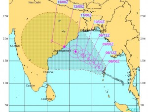Route prediction by Joint Typhoon Warning Centre