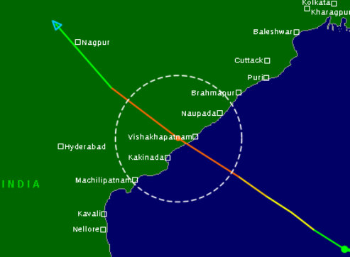 Hudhud path ( source- tropicalstormrisk.com)