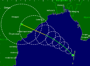 Route prediction by Tropical Storm Risk site