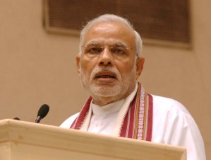 The Prime Minister, Shri Narendra Modi addressing at the inaugural ceremony of the Mananeeya Eknath Ranade Janm Shati Parva, in New Delhi on November 09, 2014.