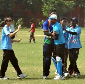 Photograph -5 - Indian Blind Cricket Team practicing at Ravenshaw University Ground