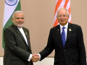 PM Modi with Malaysian PM Najib Tun Razak(PIB)
