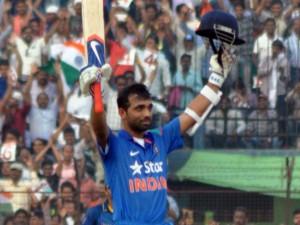 Ajinkya Rahane after scoring a century (pic- Biswaranjan Mishra )