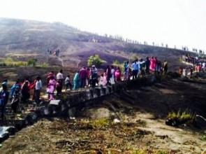Devotees on their way to Debagiri temple in Rayagada