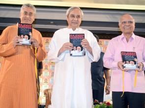 Naveen Patnaik  launching Rajdeep Sardesai's book (pic- Biswaranjan Mishra)