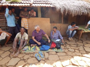 Fact-finding team in a Hudhud affected village