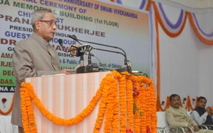 The President, Shri Pranab Mukherjee addressing at the inauguration of the Vivekananda Memorial Building, in Odisha on November 30, 2014.