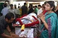 Cremation of renowned Tamil filmmaker K Balachander at Chennai