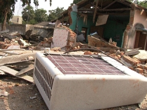 The Padia block office after the blast last year