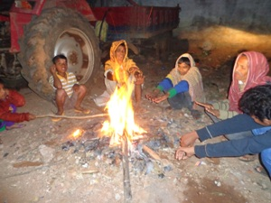 With the mercury hovering around the 2 degree mark, fire remains the only means for the people of Phulbani to warm themselves (Pic: Simanchal Pattanaik)