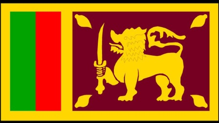 Sri Lanka flag (Courtesy www.titanherald.com)