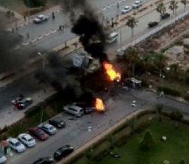 Blast near a hotel in Libya