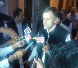 Enfrocement Director Rajan S Katoch briefing media persons after the ED annual conference in Bhubaneswar
